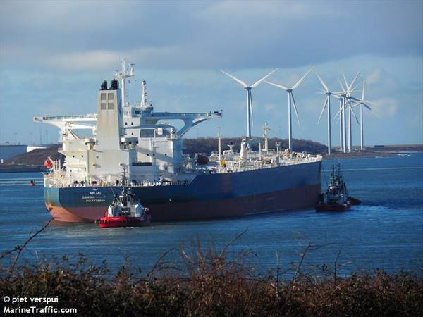O VLCC MJAD, relatado pela Reuters como um dos navios atacados. CRÉDITO: MarineTraffic.com / © piet verspui