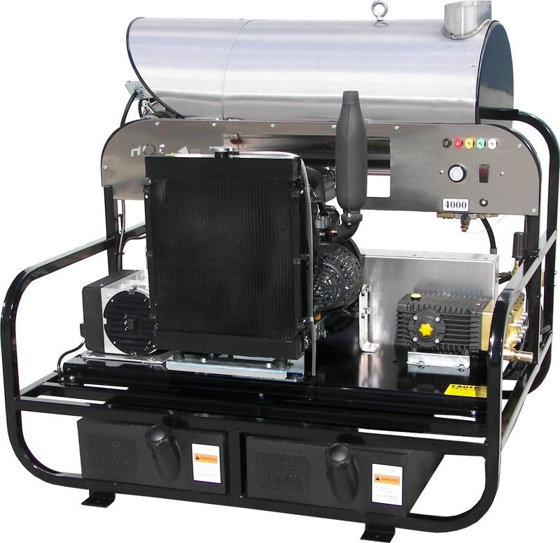 Hot Water Diesel Pressure Washer From Water Cannon