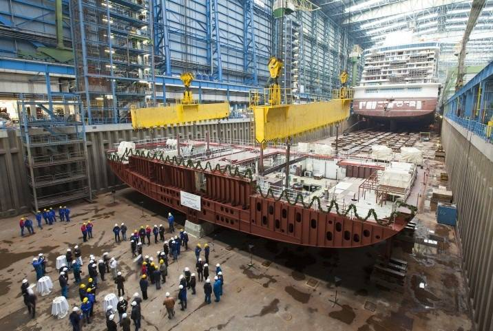 Keel Laid For Norwegian Cruise Line Ship