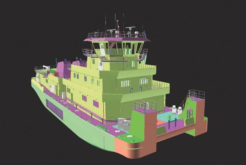 CC Building Towboat Trio for Hines Furlong