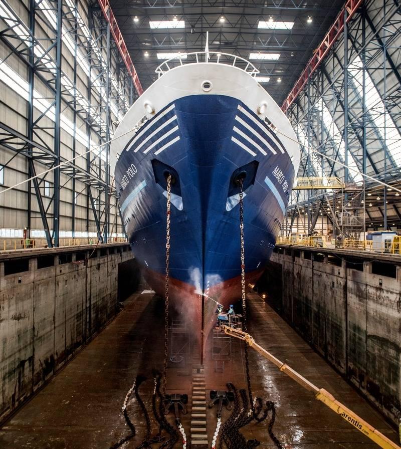cruise ship marco polo leaves damen shiprepair. Black Bedroom Furniture Sets. Home Design Ideas