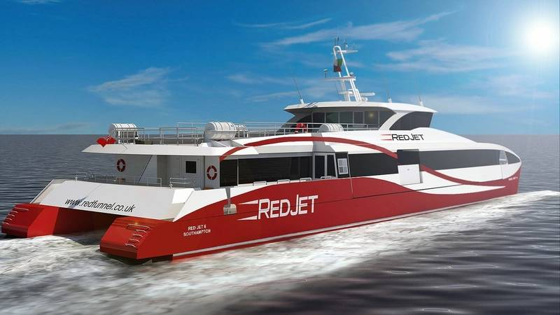 Red Funnel Catamaran Powered By MTU Engines