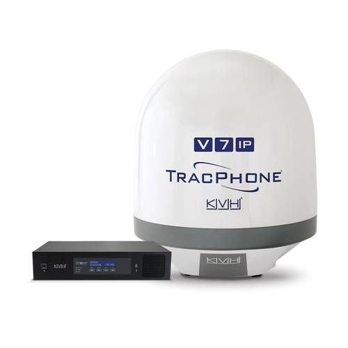 KVH's TracPhone V7-IP satellite communications systems provide broadband connectivity to vessels using the mini-VSAT Broadband network.