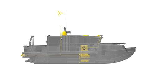 15 m ProZero ROV support vessel equipped with the remote controlled system. (Image: Tuco Marine)