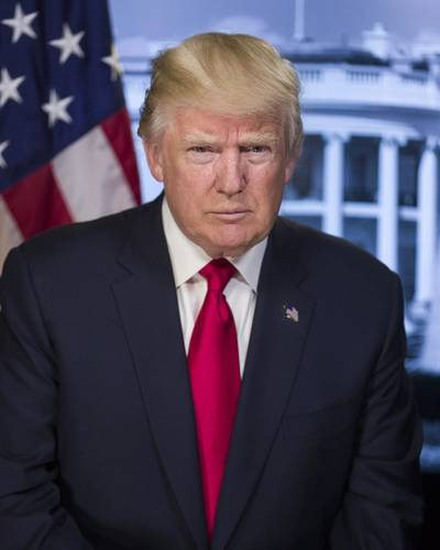 President Donald Trump (Official White House photo)