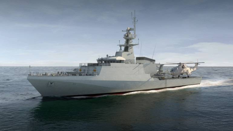 A BAE Systems Surface Ships Offshore Patrol Vessel for the U.K. Royal Navy (Image: Servowatch)