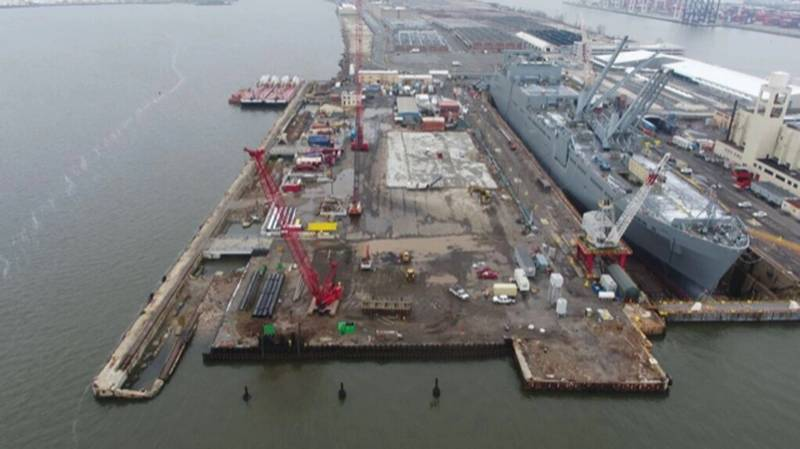 A 'birds eye' view of Bayonne Drydock & Repair. (Photo: BDDRC)