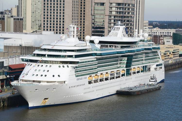 A cruise vessel alongside and bunkering at the Port of New Orleans.