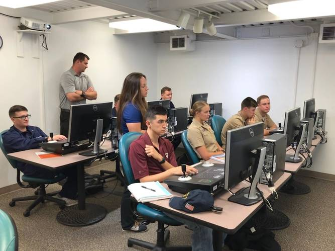 A DP classroom in use on the TAMUGcampus (CREDIT: Texas A&M)