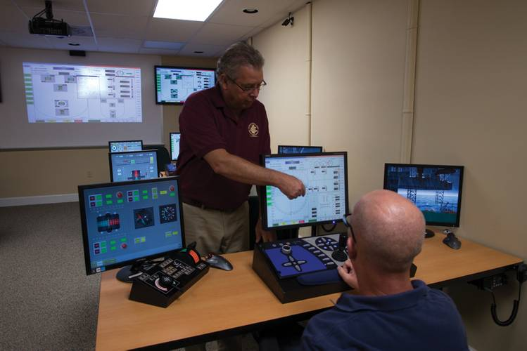 A DP Lab at Maritime Professional Training. According to Captain Ted Morley, MPT has invested about $5 million in expanding its training capacity at MPT's four campus'.