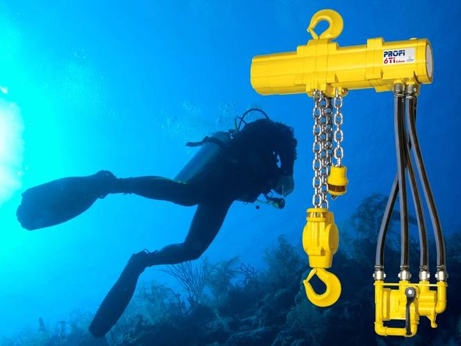 A J D Neuhaus Profi 6TI subsea hoist equipped with 'diver friendly' controls