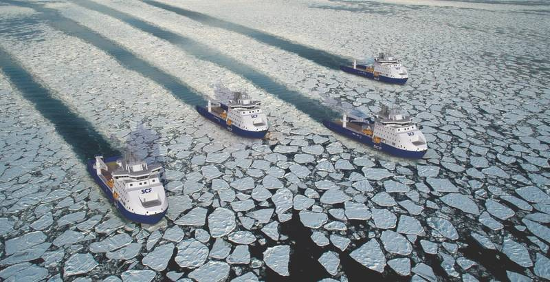 A Mega Yard Order: Sovcomflot arctic OSVs (Photo Courtesy: SCF)