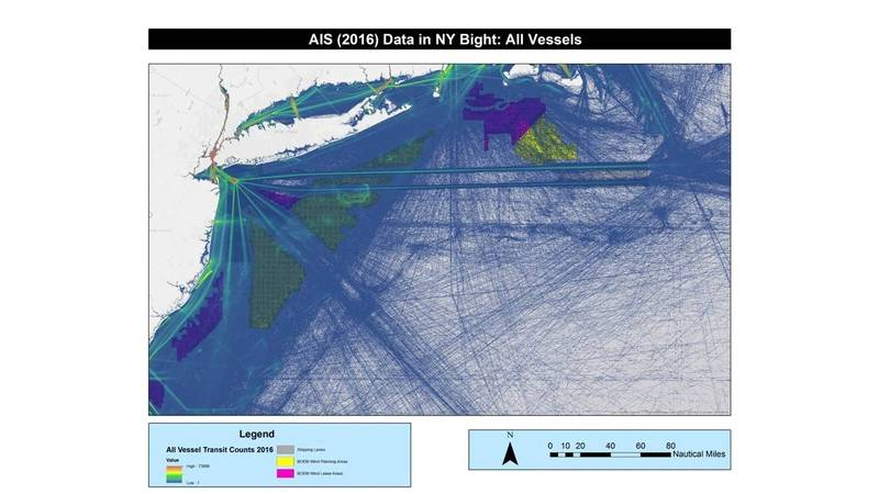 A pictorial of all tenker traffic entering and exiting NY Bight corridor (CREDIT: USCG)