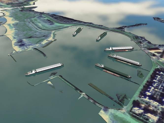 A REMBRANDT inland simulation scenario underway