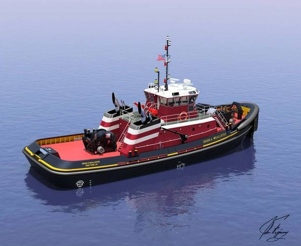 A rendering of the Brian A. McAllister from Jensen Maritime