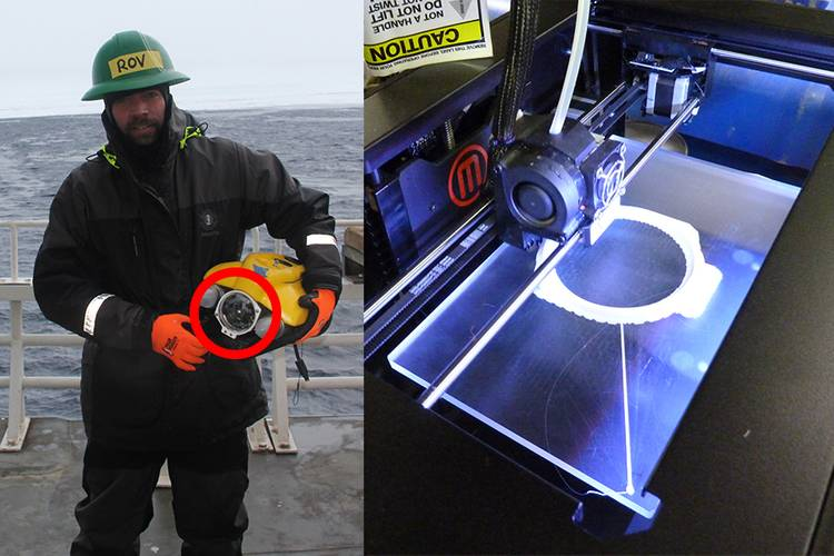 A replacement part for this remotely operated vehicle was printed in the Arctic aboard Coast Guard Cutter Healy in 2013 (U.S. Coast Guard photo)