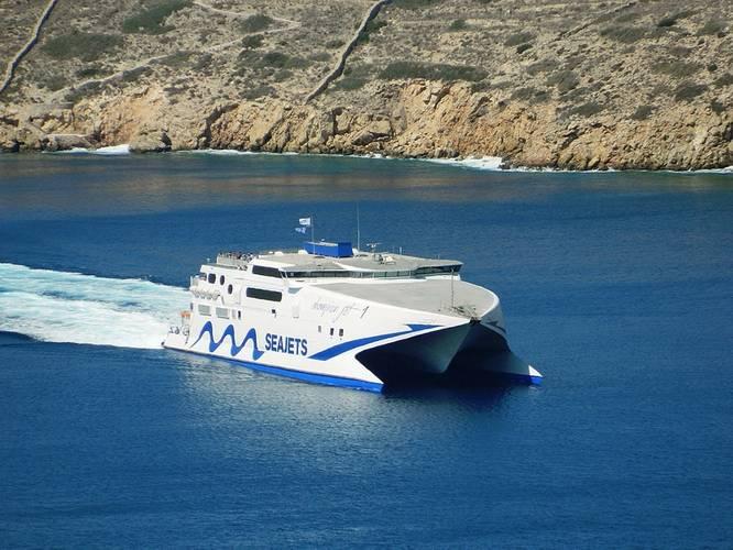 A Seajet fast ferry – Mechanica Marine has established a new relationship with the Greek company (Photo: Mechanica Marine)