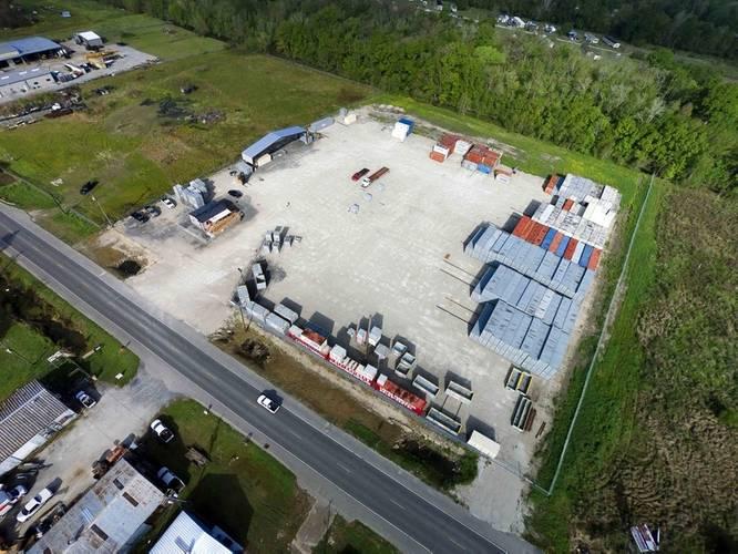 Aerial view of new Houma yard