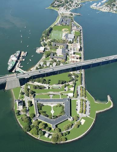 Aerial view of SUNY Maritime College campus (Photo courtesy of SUNY Maritime College)