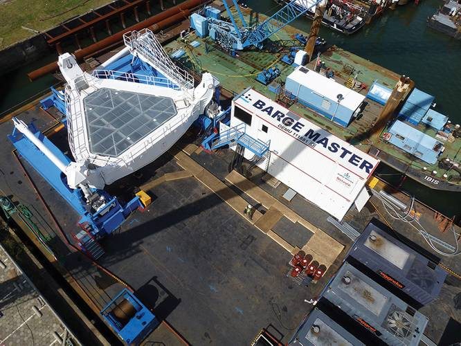 Aerial view of the Barge Master T700