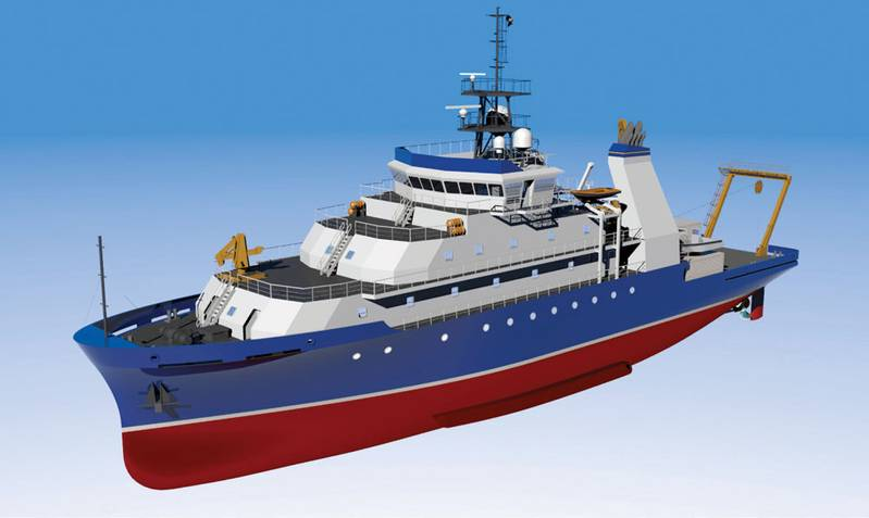 AGOR An artist's rendering of the Armstrong-class auxiliary general oceanographic research vessel (AGOR). The ships will join the U.S. Academic research fleet.  (U.S. Navy Photo)