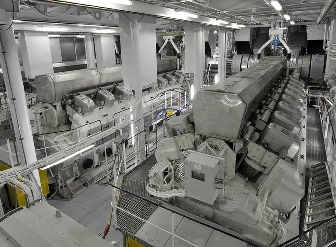 Allure of the Seas' main engine room (Photo: Wärtsilä)