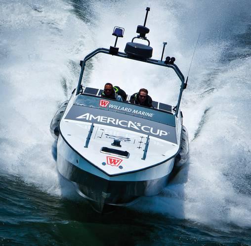 Americas Cup Umpire Boat - Willard Marine 43 Assault High Speed Interceptor. John Fleck'