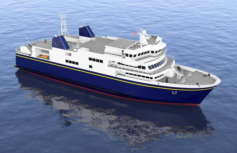 An Alaska Class Ferry Rendering (Courtesy: Elliot Bay Design Group)