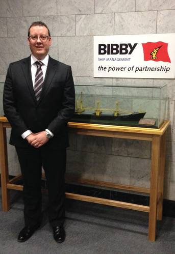 Andrew Rodden,  UK Regional Managing Director for Bibby Ship Management