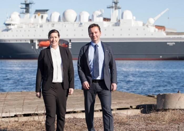 Anita Oestmann, DNV GL and Roger Ringstad, Seagull Maritime. Photo T.Aas, Seagull Maritime 2017 (Photo: DNV-GL & Seagull Maritime)