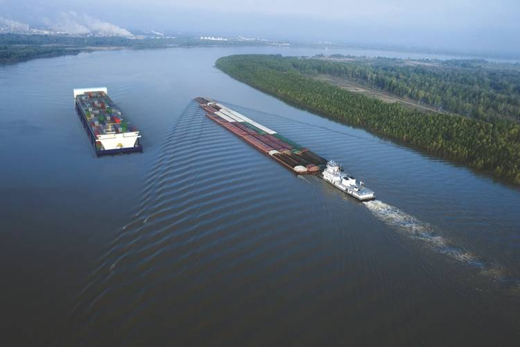 APH vessels are being designed in lengths of 592, 772, and 952 feet. The Vessels will carry from 1824 to 2960 TEUs and will travel north and south at twice the speed of barge lines or about 12-14 knots.