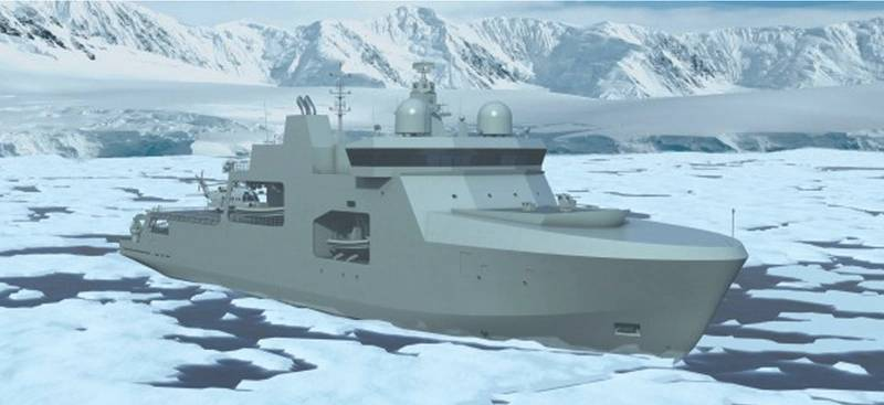 Arctic Versions: the Canadian Navy is already studying the Vard 7 100 arctic OPV. (Image: Vard Holdings)