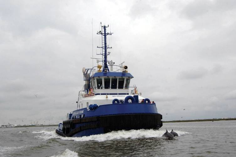 ATB tug One Cure and barge Edward Itta delivered to Harley Marine Services.