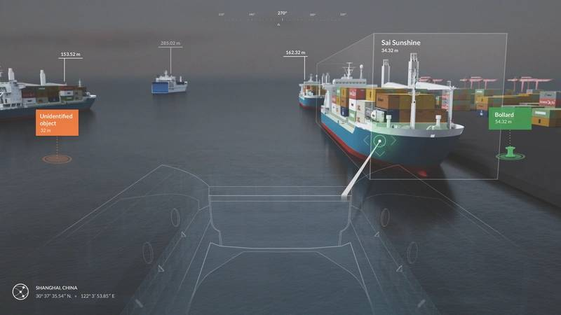'Situational awareness' technology will ensure safe operation of autonomous vessels, acting as a 'collision avoidance' system. (Photo: Rolls-Royce)