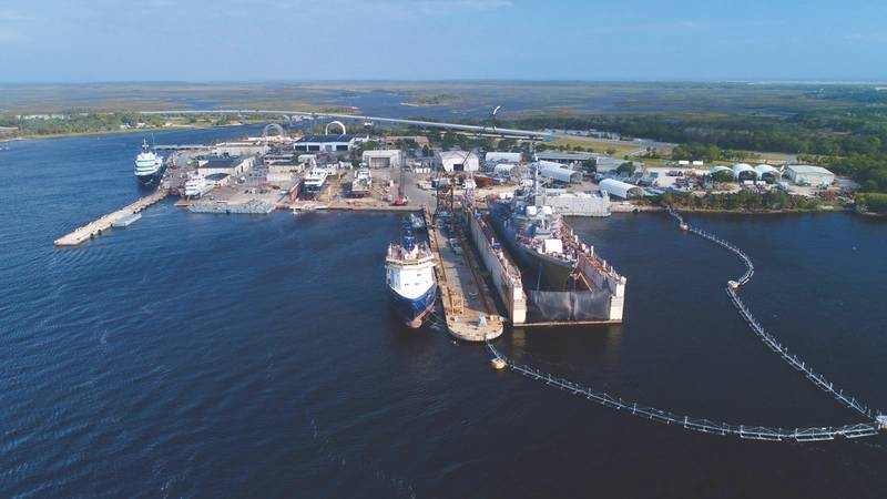 BAE Systems ship repair yard in Jacksonville, Fla. (Photo: BAE Systems)