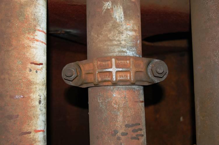 Ballast lines onboard John W. Brown