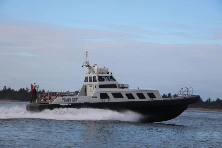 BCSL Gulf Master 58 by North River Boats, for pilots association transporting crew in hostile waters near Venezuela. Naval architecture and marine engineering by Boksa Marine Design.