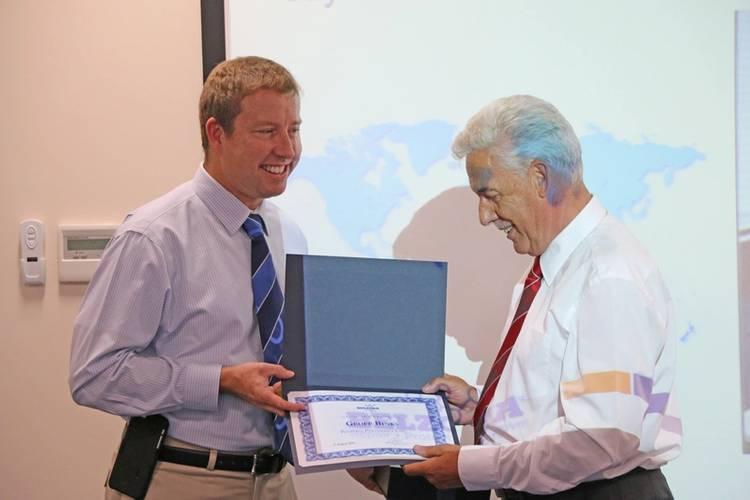 """Belzona Guru"" Geoff Binks has dedicated 50 years to the polymer coating and composite manufacturer (Photo: Belzona Polymerics Ltd.)"