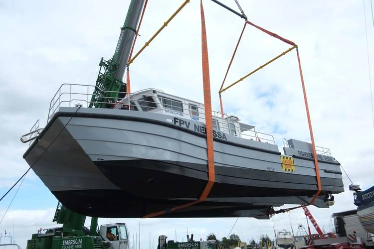 Blyth Workcat patrol boat nearing completion for the Kent and Essex Inshore Fisheries Conservation Area (
