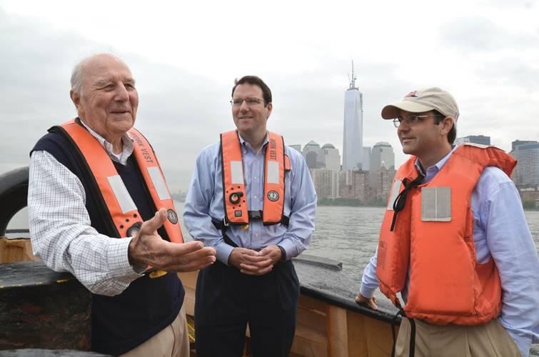 Brian, Buckley and Eric McAllister on a tug.
