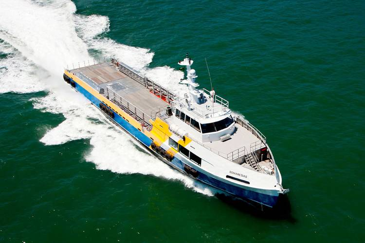 BS Maresais, the first of three 48m Type P3 Crew Boats built by Arpoador Engenharia for Brasil Supply