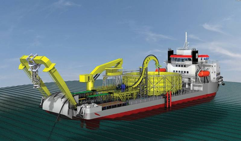 Caley A-Frame for new Boskalis cable laying vessel.