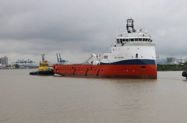 CBO Oceana on her way to sea trial (Photo: Ulstein)
