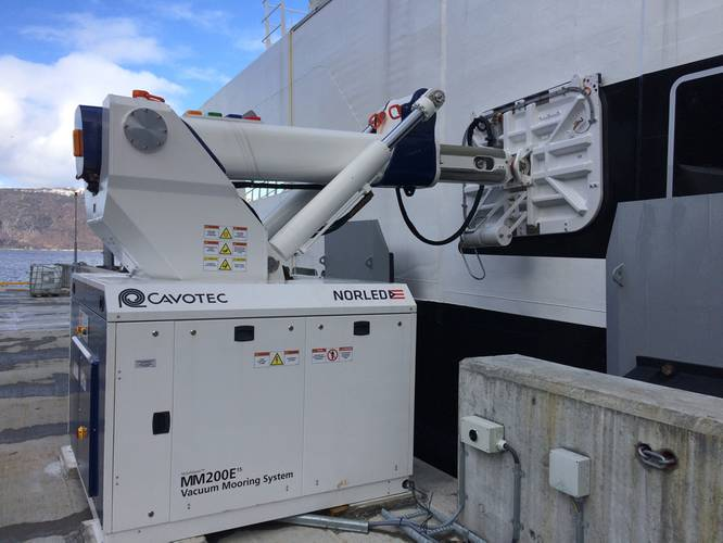 Charging Station Connected: The  automated vacuum mooring system.