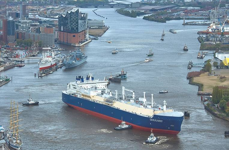 Christoph de Margerie is the world's first icebreaking LNG carrier. (Photo: Sovcomflot)