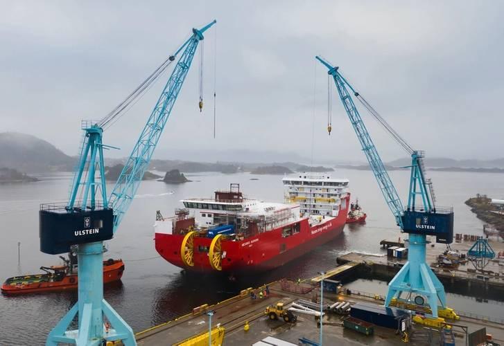 CLV Nexans Aurora launch on 8 November 2020. (Fotograf Hagen)