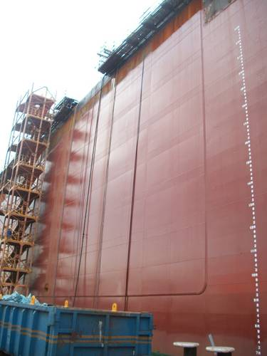 Completed FPSO side shell strengthened with SPS Overlay