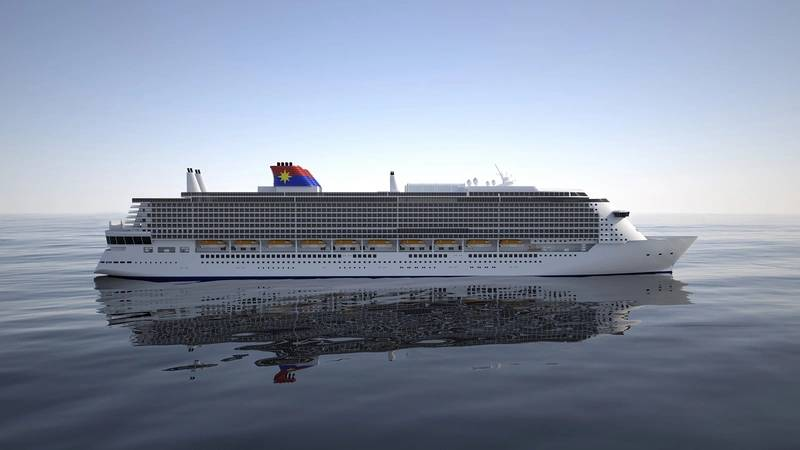 Concept design of the new Global Class mega cruise ship to be built by MV Werften for Star Cruises (Image: Elomatic)