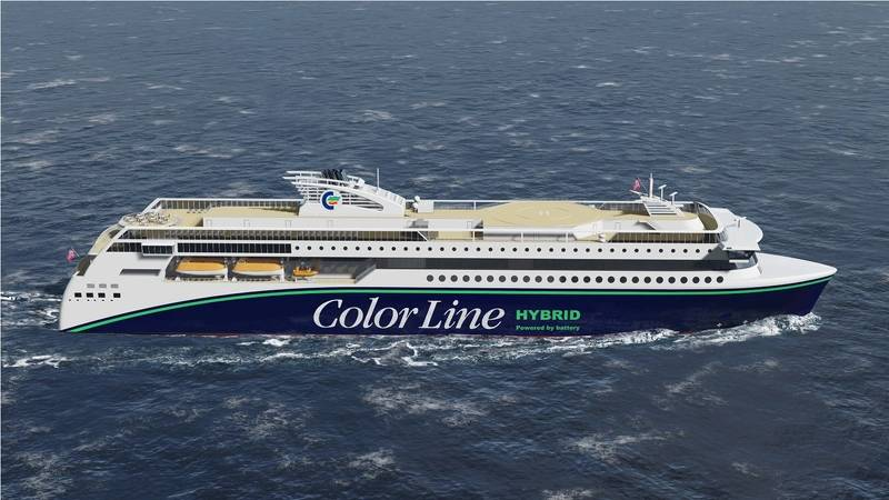 Contract for the construction of Color Line hybrid vessel at Ulstein Verft Photo Ulstein Verft