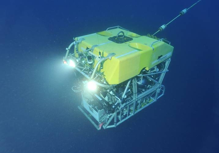 Copyright: Ifremer / Michel Gouillou. The VICTOR 6000 ROV for the exploration of ocean depths with a 6,000m immersion capacity as well as three days continuous immersion capability, allowing access to 97% of the sea areas.